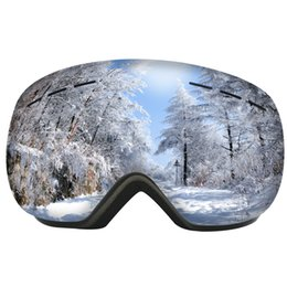 Wholesale Sperical Big Vision Ski Glasses High-definition Anti-fog Skiing Goggles Outdoor Windproof UV400 Snowboard Snowmobile Eyewear