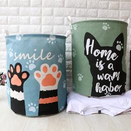 $enCountryForm.capitalKeyWord Australia - 40cm*50cm Cartoon Storage Bags folding waterproof fashion laundry basket dirty clothes basket storage bucket with Cartoon Printing