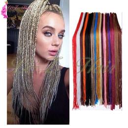 Long Hair Braided Australia - Ombre Box Braid Hair Extensions Synthetic Crochet Braids Hair Russia Long 28inch Zizi Rainbow Blonde Crochet Box Braid Hair Extension