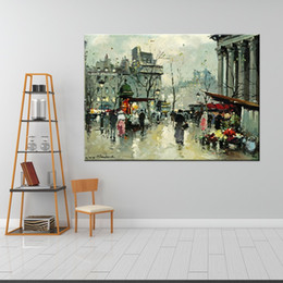 $enCountryForm.capitalKeyWord NZ - High Quality Handpainted Modern Abstract City Streetscape Landscape Art Oil Painting Women On Canvas Wall Art Home Office Decor l18