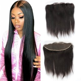 $enCountryForm.capitalKeyWord Australia - Lace Frontal Closure Middle Free Three Part Malaysian Straight Human Hair Frontal with Baby Hair Swiss Lace Ping