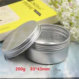 $enCountryForm.capitalKeyWord NZ - 500pcs Capacity 200g (83*43mm) high quality aluminium jar ,The tea box, cream box empty aluminum Tin metal jar