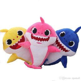 Toys Hangings For Car Australia - Cartoon Sharks Baby soft Dolls Toys for Girl Children Baby Animal Kid Toys Cute Gift Elastic Environmentally PU brinquedos