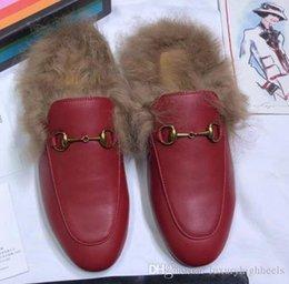 Ingrosso Pantofole di lusso GG autunno e inverno nuove scarpe mueller neuter paio mocassini scarpe all'ingrosso pantofole da spiaggia piatte baotou mocassini cool scarpe t
