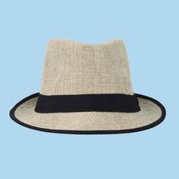 f94054d610235 Trendy Women Men Straw Panama Fedora Caps Solid Dress Hats Stylish Spring Summer  Beach Sun Hat DHV4 10