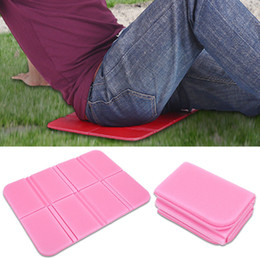 foldable chair mat Australia - New Fashion Portable Outdoor Folding Foldable Foam Seat Waterproof Chair Cushion Mat Pad