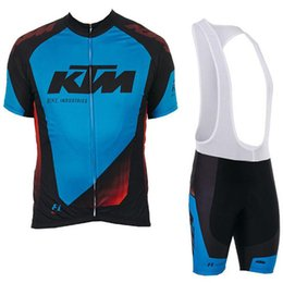 Cycling Gel Pads NZ - 2019 Men KTM Pro Team Summer Mountain Racing Bike Clothing Breathable Quick Dry Cycling Jersey Sets+9D Gel Pad BIB Shorts