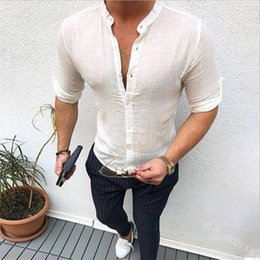 $enCountryForm.capitalKeyWord Australia - VLVT 2019 Summer New Designer T Shirts For Men Tops Slim White Gray Blue Colors T Shirt Mens Clothing T-Shirt Long Sleeve Tshirt Cotton Tees