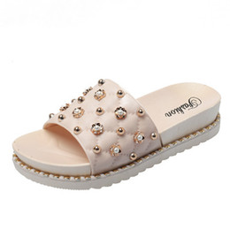 55984c388 2019 HOT New Designer ms Women Sandals lady Slippers Summer woman Sandal  Casual Slippers Flip Flops flat sandy shoes slipper loafers