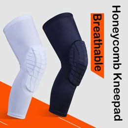 $enCountryForm.capitalKeyWord NZ - New Sport Safety Breathable Honeycomb Kneepad Football Basketball Volleyball Knee Pads 2 Colors Protect Gear Support FBA Drop Shipping M122F