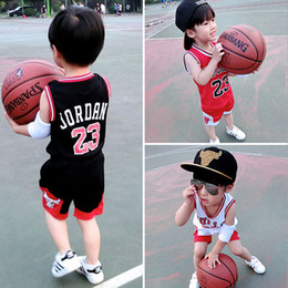 $enCountryForm.capitalKeyWord Australia - Summer Baby Boys T-shirts Shorts Suits Kids Basketball Clothing Children Breathable Sports Sleeveless Vest Tops Pants Sets Infant Clothes
