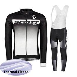 $enCountryForm.capitalKeyWord UK - SCOTT team Long sleeve Winter Thermal Fleece Cycling jersey bib pants sets mens Outdoor sports keep warm Cycling clothing suit Q62997