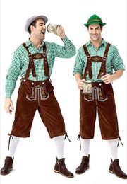 $enCountryForm.capitalKeyWord Australia - Designer Costumes 2019 New German Traditional Oktoberfest Clothing Plaid Shirt Men's Beer Suspenders Suit Luxury Clothing Hot Sale