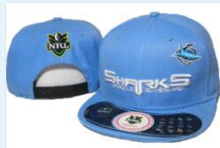 shark sale NZ - Hot Sale NRL Cronulla-Sutherland Sharks Hat Football Cap Snapbacks Hats Cartoon Adjustable Football Caps Fashion Hip Hop accept mix order 01