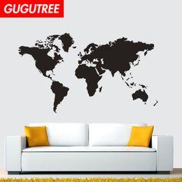 $enCountryForm.capitalKeyWord Australia - Decorate Home world map cartoon art wall sticker decoration Decals mural painting Removable Decor Wallpaper G-1585