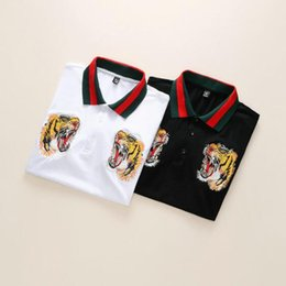 5ace58a6b 19ss New Hot style famous Brand Men short sleeves Fashion polo shirts  Casual Designer Men famous brand T-shirt GG luxury polo shirt#89