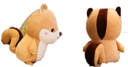 Toy Squirrels Australia - Cute squirrel down cotton fat animal small squirrel doll plush toy birthday gift pillow doll mini toy
