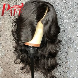 $enCountryForm.capitalKeyWord NZ - PAFF Body Wave Silk Top Glueless lace Front Wigs 4x4 Silk Base Free Part Wigs Brazilian Remy Human Hair With Baby Hair