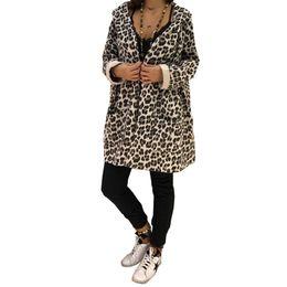 $enCountryForm.capitalKeyWord Australia - New Women's Ladies Winter Coats Leopard Printed Warm Jacket Plus Size Shaggy Hooded Coat Long Sleeve Outerwear Jacket