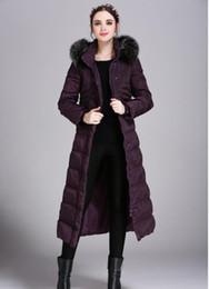 Womens Parka 5xl Australia - Womens Winter Long Down Jacket Duck Down Parkas Real Fox Fur Hood Ladies Warm Outwear Coat Hooded Big Size S-5XL Thicking Outdoor Jacket