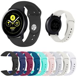 $enCountryForm.capitalKeyWord Australia - Replacement Soft Silicone Strap for Samsung Galaxy Smart Watch Active Sport Wrist Band Rubber Bracelet 10 Colors