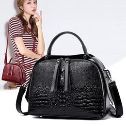 $enCountryForm.capitalKeyWord NZ - Fashion 100% Cowhide Leather Shoulder Bags For Women 2019 New Designer Crocodile Pattern Genuine Leather Luxury Handbags Ladies