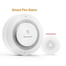 $enCountryForm.capitalKeyWord NZ - Original Xiaomi Mijia Honeywell Fire Alarm Detector Audible Visual Smoke Sensor Remote Mihome APP Smart Control safety monitor