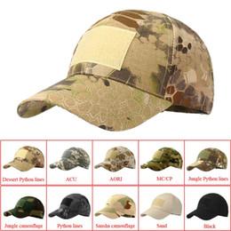 Chapeaux de sport en plein air Snapback hat Chapeau de camouflage Simplicité Escalade tactique Armée Camo Chasse Chapeau Chapeau Pour Hommes Adulte Cap en Solde