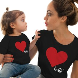 $enCountryForm.capitalKeyWord Australia - Gourd doll Mommy and me clothes Mother Daughter Matching family outfits T shirt mom Kids Baby Girls soft cotton Heart print Tops