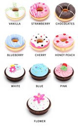 $enCountryForm.capitalKeyWord Australia - Creative Cute Colorful Donut Shape Lip Balm Sweet Doughnut Moisturizing Long Lasting Colorless Nutritious Anti Cleft Lipstick