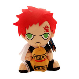 $enCountryForm.capitalKeyWord UK - 2019 30cm Japanese Anime Naruto Sitting Gaara Plush Toys Soft Stuffed Toys Dolls Figure Toy for Kids Children Xmas Gift With Tag