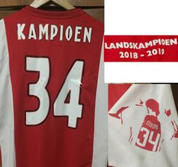 Vente en gros # 34 KAMPIOEN LANDSKAMPIOEN Champions De jong DE LIGT Hommage à Nouri # 34 Badge de Football Patch Home Textile