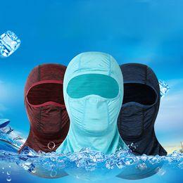 $enCountryForm.capitalKeyWord Australia - Summer Outdoor Ice Silk Sunscreen Hooded Mask Riding Multi-function Balaclava Face Mask Sun Protection Scarf Men's Sportswear