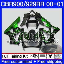 $enCountryForm.capitalKeyWord Australia - Body For HONDA CBR900 RR CBR 929 RR CBR 900RR CBR929RR 00 01 279HM.9 Green flames stock CBR 929RR CBR900RR CBR929 RR 2000 2001 Fairings kit