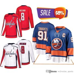 Förderung Washington Capitals Trikots 8 Alexander Ovechkin New York Islanders 91 John Tavares Hockey Jerseys Herrenuniform on Sale