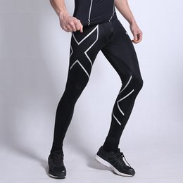 $enCountryForm.capitalKeyWord NZ - Men Compression Sport Pants Elastic Tights Fitness Jogging Clothes Skinny Gym Running Legging Trousers Plus Size 3XL Sportswear