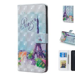 $enCountryForm.capitalKeyWord UK - Mobile Phone Case with 3D Romantic Flower Tower Design Made of TPU PU Leather