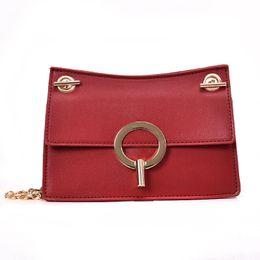 Branded Handbags Australia - Brand Women Vintage Messenger Bags Pu Leather Handbags Women's Shoulder Bags Designer Female Classic Chain Ladies Bag 349