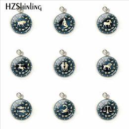 $enCountryForm.capitalKeyWord NZ - Zodiac Leo Symbol Pendant Pisces Blue Pisces Zodiac Libra Astrology Sagittarius Horoscope Scorpio Stainless Steel Plated Charms