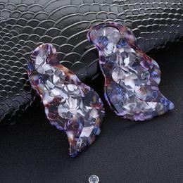 Earring Stud Boho Australia - Fashion Colorful Leopard Acrylic Stud Earring for Women Boho Irregular Geometric Statement Hanging Earring 2019 Brincos