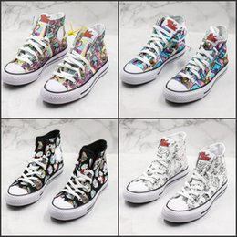 original star canvas shoes NZ - Conversing Taylor STAR Chuck 70 Hi Tom & Jerry Canvas Shoes Graffiti High Half Size Originals Classic Skateboard Sneakers Girls Mens4563246