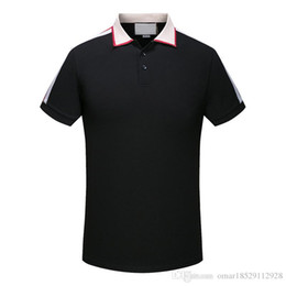 floral polo UK - 19ss spring luxury Italian T-shirt T-shirt designer Polo shirt high street embroidery LOGO printing clothing men's brand Polo shirt