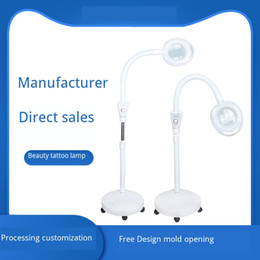 beauty salon lamps Canada - LED beauty salon stepless dimming cold light tattoo lamp beauty lamp magnifying glass acne nail surgery shadowless floor lamp