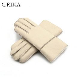 $enCountryForm.capitalKeyWord Australia - 2018 New Multi Color Winter Gloves for Women Real Leather Wool Fur Gloves Girls Sheepskin Leather velvet Fur Very Warming