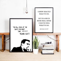 michael paintings UK - The Office TV Show Art Canvas Poster Painting Michael ScoQuotes Wall Picture Print Office Home Minimalist Decoration