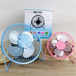 $enCountryForm.capitalKeyWord Australia - Aluminum leaf Quiet Mini Table Desk Personal USB Fan and Portable Metal Cooling Fan for Office Home High Compatibility 15cm DHL free