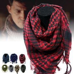 cotton viscose scarves Australia - 2018 Hot Sale Cotton Thick Arab Scarves Muslim Hijab Shemagh Tactical Desert Winter Military Windproof Scarf for Men or Women