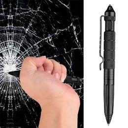 Ağır Profesyonel Defender Taktik Kalem Uçak Alüminyum Cam Kesici Yazma ile Çok Fonksiyonlu Survial Aracı Kendini Savunma Kalem Aracı indirimde