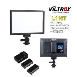 Mini live caMera online shopping - Viltrox L116T Portable LED Video Light Ultra thin LCD Bi Color Dimmable DSLR Studio mini Lamp Panel for YouTube show live Camera