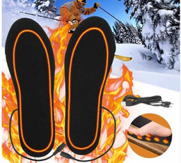 $enCountryForm.capitalKeyWord Australia - Electric Heated Insoles Winter Men Women Heated Shoe Inserts Charged Insoles for Shoes Boot Warm Socks USB Charging Cables